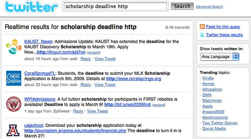 scholarship deadline http - Twitter Search