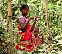 Stand up for the rights of the underprivileged women and children. (sytoha / Syed Touhid Hassan) Tags: bangladesh candidphotography blueribbonwinner sytoha syedtouhidhassan internationalwomensday2009 saontalwomanwithherchild rightsofwomenandchildren tribalwomanandherchild socialbarriers underprivilegedwomenandchildren