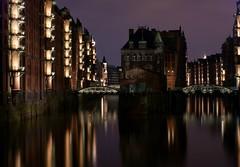 Speicherstadt Hamburg @ night (OlliL) Tags: reflection water night port nightshot harbour sony hamburg photographers hafen speicherstadt hanse a350 nachtfotographie photographershamburg wwwphotographershamburgde