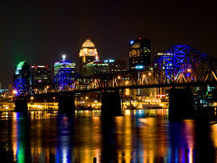 Louisville Skyline with Bridge (gregmacg) Tags: bridge skyline louisville ourkentucky