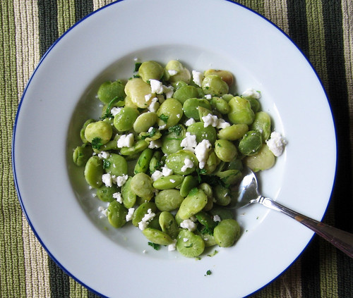 lima beans with feta from above