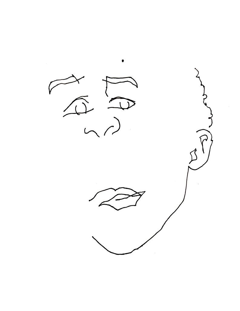 blind contour : edgar