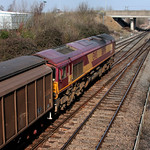 66096 joins the main line with 6A49 for Bicester Mil at Didcot 18 March 2009 thumbnail