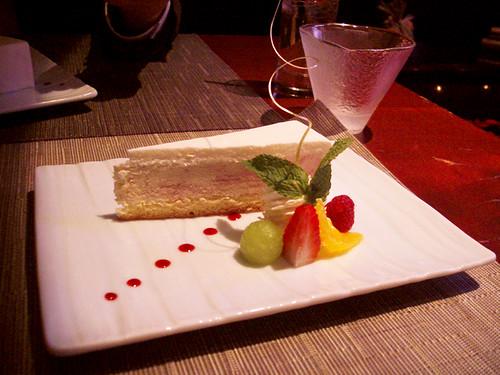 raspberry mousse cake @ megu