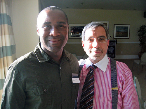 Felton Newell, left, with yours truly in Santa Monica in March 2009