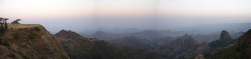Simien dawn panorama