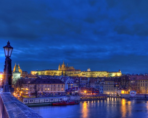 Night Falls on Old Prague