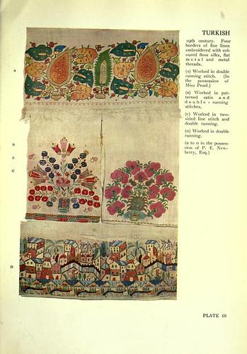 022-Cuatro muestras de bordado turco siglo XIX