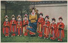 Tayuu with eight attendants (kamuro) (noel43) Tags: japan japanese district prostitute prostitution redlight pleasure courtesan yoshiwara oiran tayu tayuu kamuro