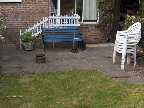 Indian Sandstone Patio and Lawn Image 4