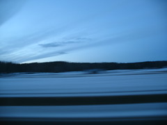 Driving Trough the Snow (blind_donkey) Tags: road blue sky snow travelling nature finland twilight helsinki view turku horizon traveling otw travells beautifulexpression lovely~lovelyphoto