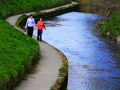 River walk (Steve-h) Tags: blue ireland red dublin green water grass river grey women day earth path curves finepix fujifilm bushes earthday dodder steveh riverdodder anawesomeshot 50faves123 theperfectphotographer s100fs riverdodderarea