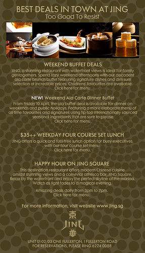 carte week end promo Dining Promotions @ Jing & Shangri La — SuperFineFeline™