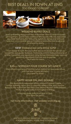 promo carte week end Dining Promotions @ Jing & Shangri La — SuperFineFeline™