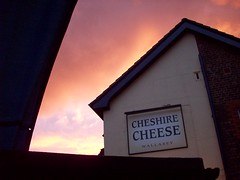 Sunset over The Chesire Cheese: Copyright 12th April, 2009 Kevin & Jane Moor
