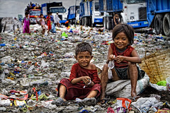 Tondo, Manila - Child Scavengers of Smoky Mountain (Mio Cade) Tags: boy mountain hot home boys girl rain kids work children toy site kid dangerous garbage shine child little reptile snake labor philippines dump dirty scorpion help rubbish manila bite smoky dig scavenger peso tondo