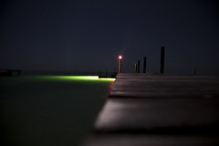 Guide (NymphoBrainiac) Tags: ocean longexposure light vacation night dock paradise belize centralamerica stgeorgescaye