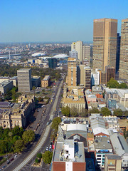 Looking South from the 31st floor (rileyo) Tags: road buildings view rooftops parliament melbourne aerial eastmelbourne lonsdalest project365 casseldenplace