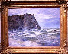 The Cliff at la Porte d'Aval (1883) (AGreatEuropeTripPlanner!) Tags: art paintings monet milwaukeeartmuseum impressionism museums masterpiece claudemonet impressionists artmuseums frenchimpressionism frenchimpressionists frenchpainters