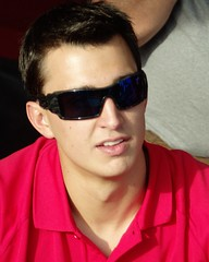 Graham Rahal signing autographs.  Photo: Doug Patterson
