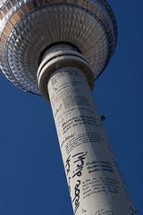 Messages of Love... (TheManWhoWasn'tThere) Tags: berlin love canon eos letters alexanderplatz fernsehturm poems tvtower deutschetelekom 40d 100mm20 invitedby