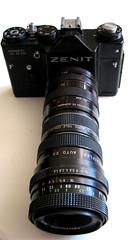 The Beast (monkeymillions) Tags: camera telephoto soviet zenit pentacon bargain zenith lenses prinz optics cameraporn telefoto extenders £200