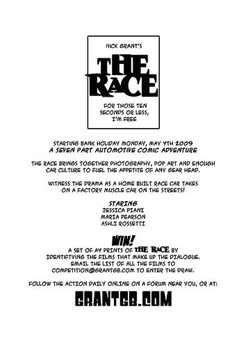 Comic - The Race Cover Sheet