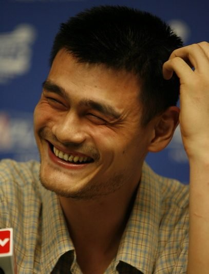 Yao Ming Face Yao was all smiles dur...
