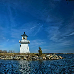 ~ Beautiful  Warning ~ (ViaMoi) Tags: travel blue light lighthouse ontario canada color reflection classic nature water beautiful clouds digital warning canon river landscape photography photo wooden flickr photographer natural image newmedia canadian explore reflect adobe saturation farbe 2009 naturalist saintlawrence naturesfinest blueribbonwinner digitalcameraclub flickrsbest golddragon 40d abigfave platinumphoto anawesomeshot colorphotoaward impressedbeauty aplusphoto diamondclassphotographer flickrdiamond citrit theunforgettablepictures canon40d naturewatcher colourartaward excapture betterthangood theperfectphotographer viamoi goldstaraward photographybyviamoi rubyphotographer damniwishidtakenthat flickrlovers 100commentgroup saariysqualitypictures