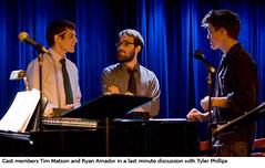 Tim Matson (narrator). Tyler Phillips (composer/lyicist) and Ryan Amador (kamelrock) Tags: theater theatre musical chrislittlefield ryanphillips tylerphillips theamazingriverparade broadwaytimmatson ryanamador