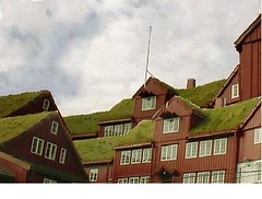 the historic Faroese parliament building