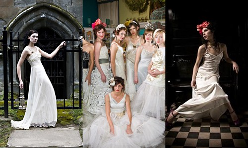 kind wedding dresses by deconstructing vintage and recycled materials