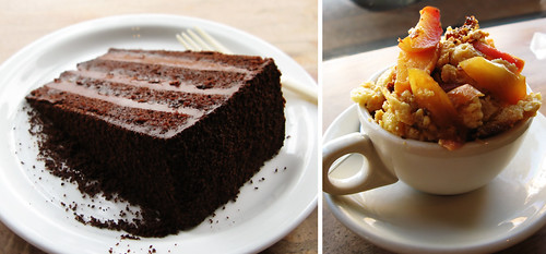 Tartine Devil's Food Cake and Brioche Bread Pudding