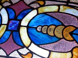 Détail du vitrail de l'intérieur d ela Confiteria del Molino de Buenos Aires.