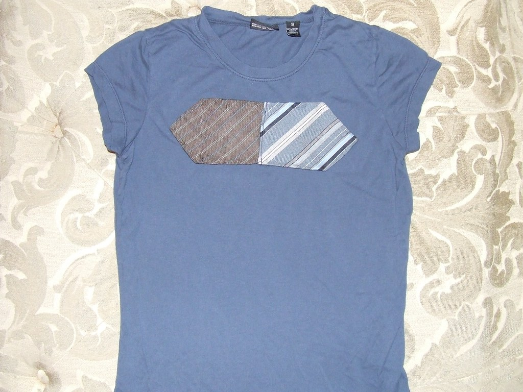 SOLD vintage necktie tshirt / tee / t-shirt