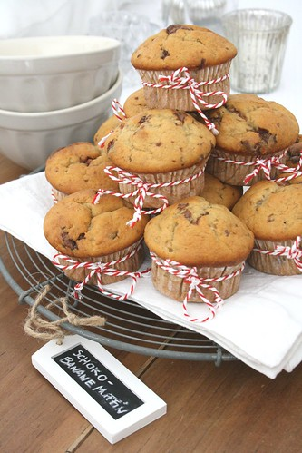 Schoko-Banane Muffins