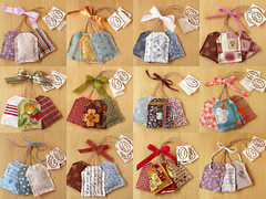 Lavender Teabag Sachets (PatchworkPottery) Tags: handmade sewing crafts lavender fabric patchwork teabag stamped sachet