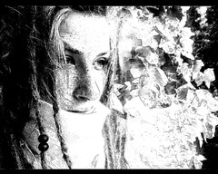I feel drawn (Paulchen...mostly off. :)) Tags: bw reflection me window girl dreadlocks photoshop sp sw drawn dreads paulchen efeu vyl pmesw
