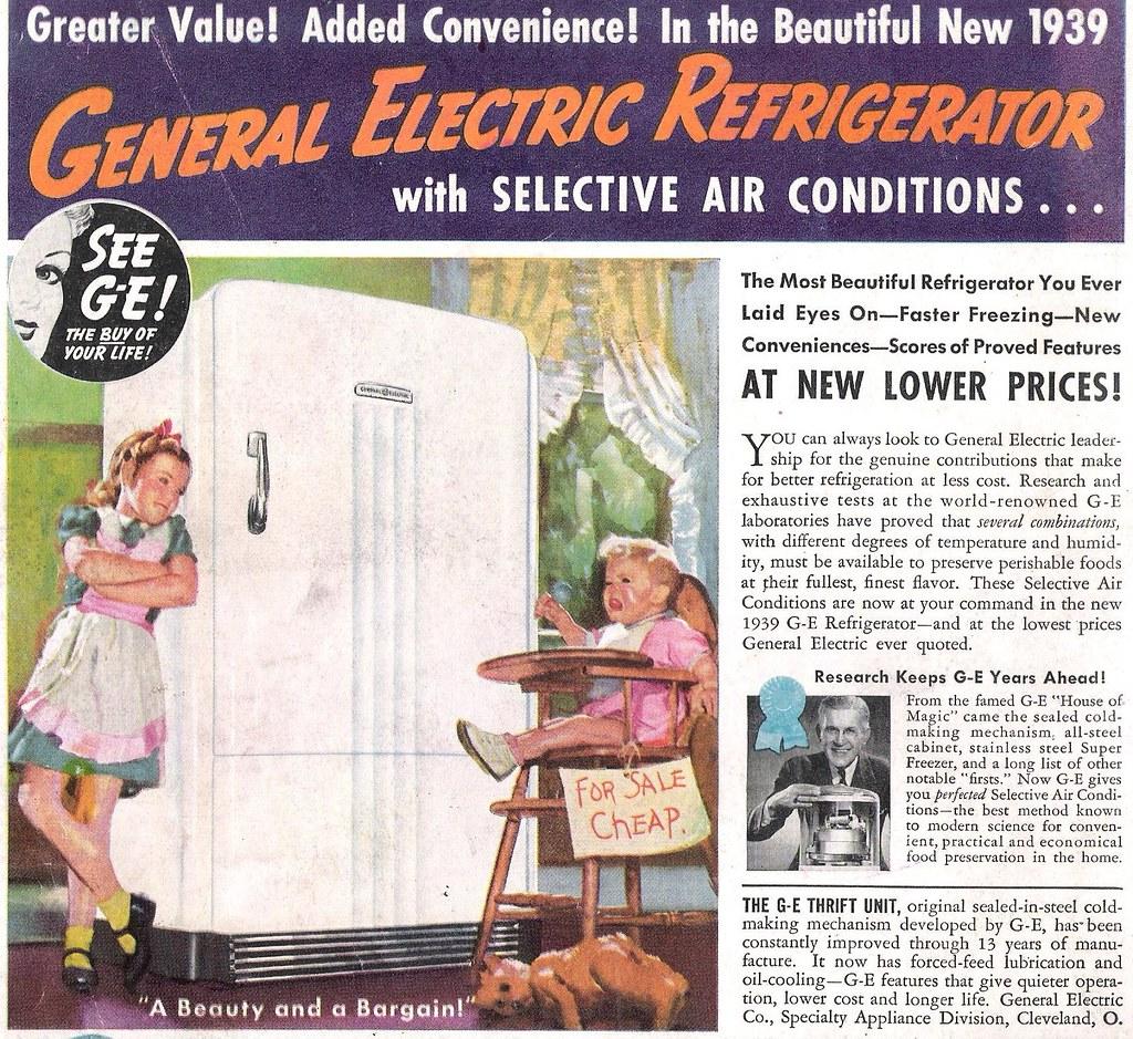 1939 General Electric Refrigerator