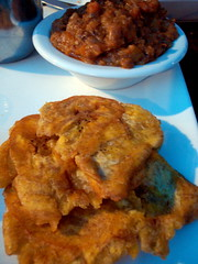supper at kalalu: fried green plantain and ratatouille. (sheep sheep) Tags: food montreal caribbean stdenis kalalu