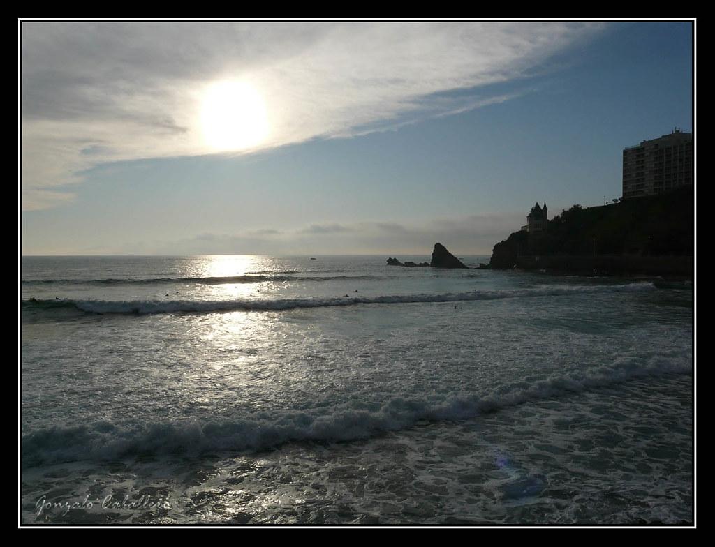 Atardecer en la Côte des Basques (Biarritz)