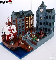 Hanseatic Town (Kris_Kelvin) Tags: ship lego harbour medieval