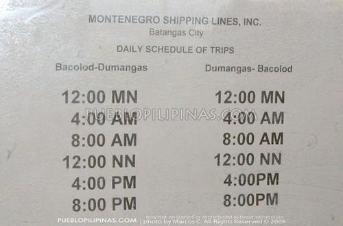 Montenegro RoRo Schedule