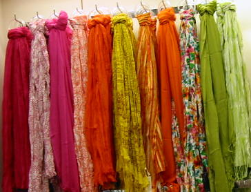 scarves-in-spring-colors-peach-lime-green