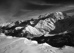 Mont Blanc from St. Gervais Ski Area (Jason Whiteley) Tags: trip jason ski france mountains alps saint st club lancashire mountaineering mont blanc gervais moutaineering whiteley sunnit elevation40004500m 4000er 4807m