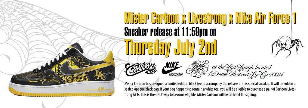 Mr. Cartoon x LIVESTRONG x Nike Air Force 1 Release Event