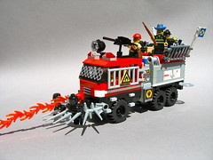 LEGO post-apoc fire engine