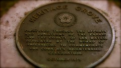 Heritage Grove Commemorative Plaque (SCVHA) Tags: california commemorative lahonda heritagegrove redwoodpreserve