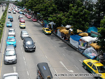 Chatuchak as seen from the overhead bridge