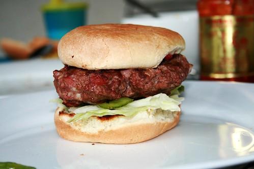 Ostrich burger